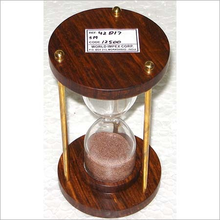 Wooden and Glass Sand Timer