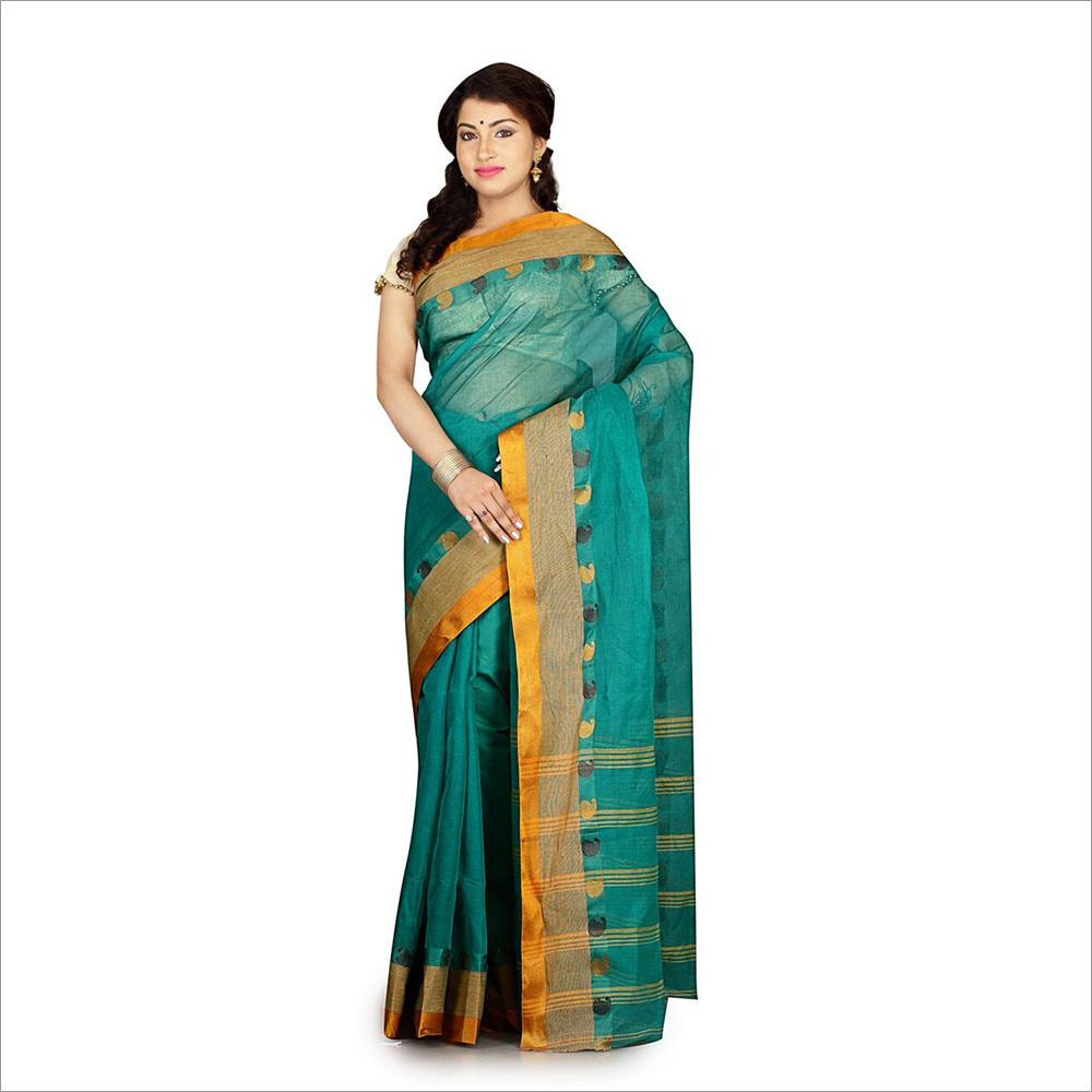 Teal Color Saree
