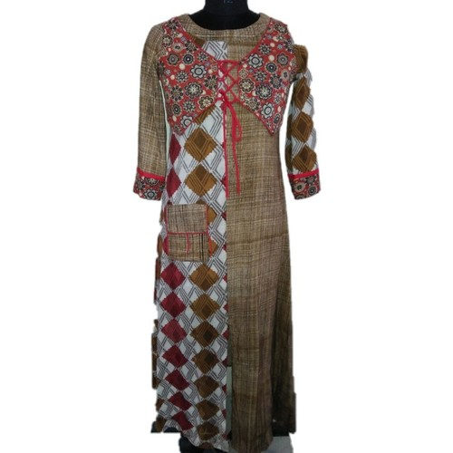 Dabu Print Kurti With Jacket