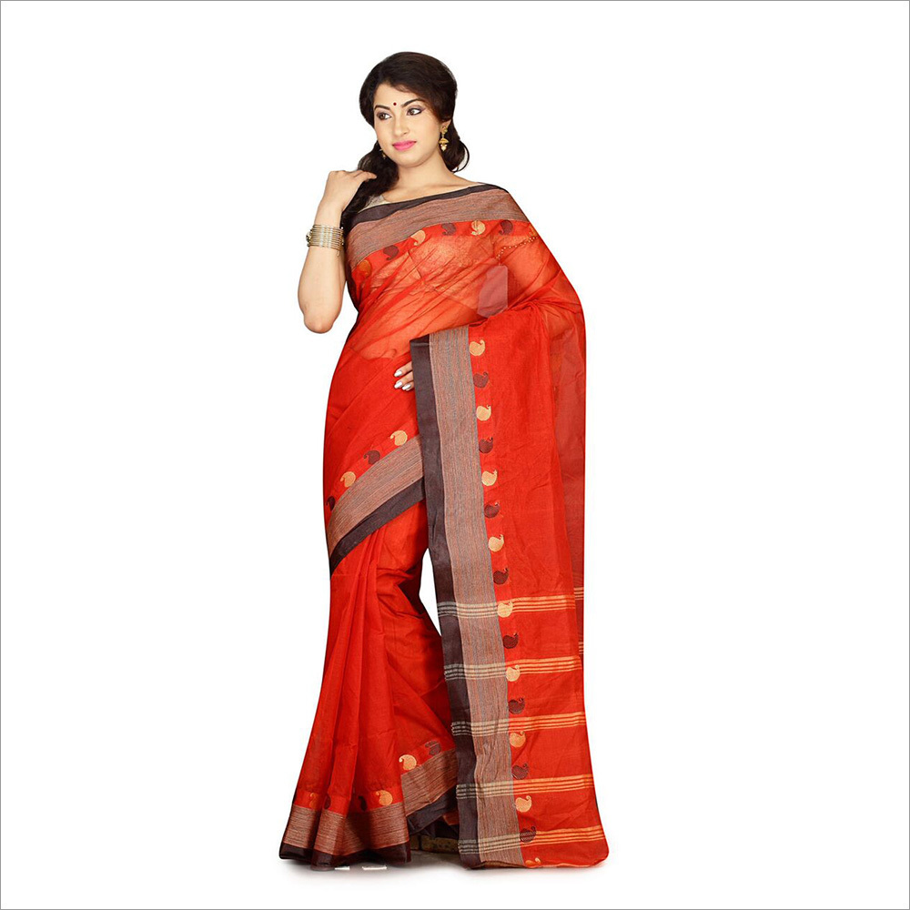 Rust Color Saree