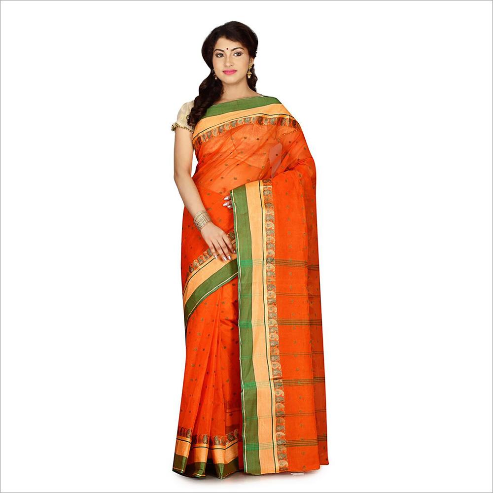 Ladies Orange Saree
