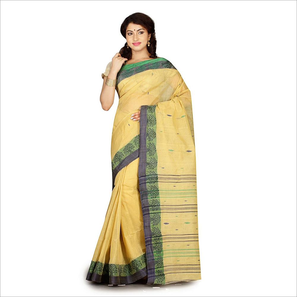 67dbde9a002e2d Ladies Beige Color Saree With Cotton Blouse - Ladies Beige Color ...