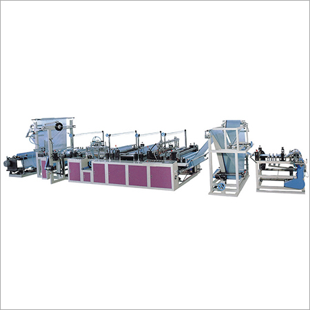 Draw Tapes Bags On Roll Making Machine