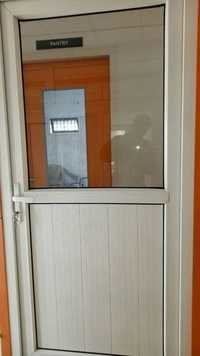 Half Glass And Half Panel Upvc Door