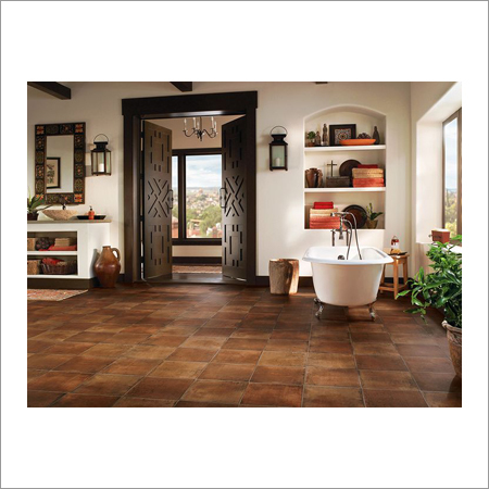 Earthy Clay Vinyl Flooring