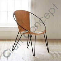 ROUND METAL CHAIR