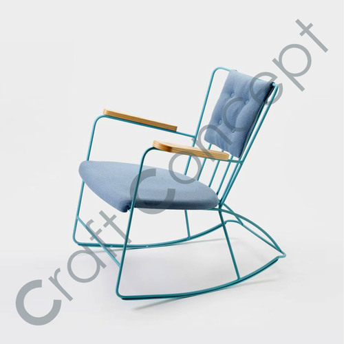 BLUE METAL ROCKING CHAIR