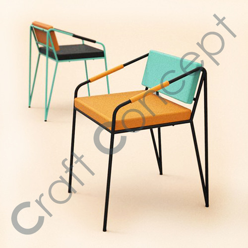 METAL & FABRIC SEAT CHAIR