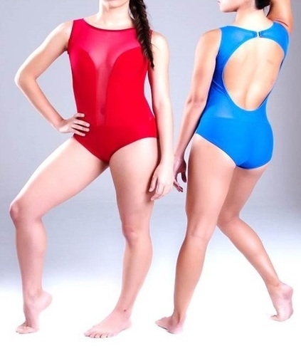 Red and Blue Leotard Body Sutt