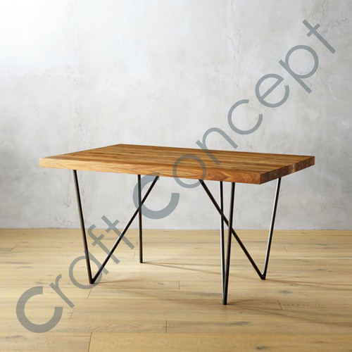 WOOD & METAL OFFICE TABLE