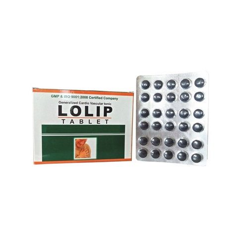 Ayurvedic Tablet For Heart diseases-Lolip Tablet