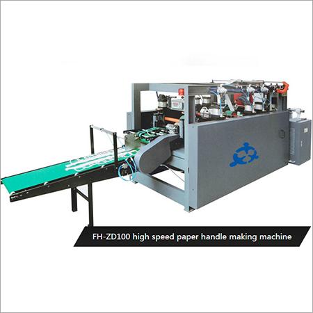 High Speed Paper Handle Making Machine