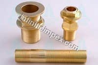 Brass Tank Connector with Barrel Nipple