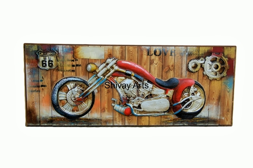 Wooden Contemporary Designer 3D Motorcycle Wall Decor Wall Hanging Wall Mural Wall Sculpture