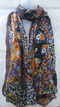 Poly Voile Floral Printed Scarves