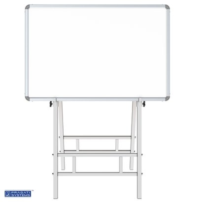 Dual Side Writing & Display Board Stand (Upto 3X4) 4-Leg Uniform Support