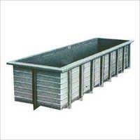 Rectangular Fibre Storage Tank