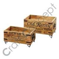 SET OF 2 WOODEN BOX