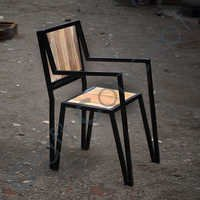 WOOD & METAL ARMCHAIR
