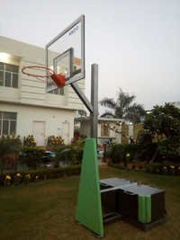 Movable Basketball Pole With Height Adjustments