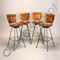 WOOD & METAL BAR CHAIR