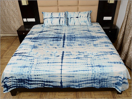 Shibori Print Jaipuri Bed Sheet