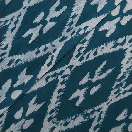 Hand Block Print Ikat Voile Fabric