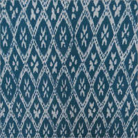 Hand Block Print Ikat Voile Fabric