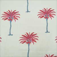 Hand Block Print Palm Tree Fabric