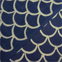 Hand Block Printed Indigo Blue Fabric