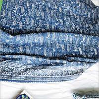 Indigo Blue Kantha Bedspread