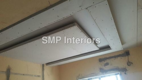 False ceiling with gypsum boards