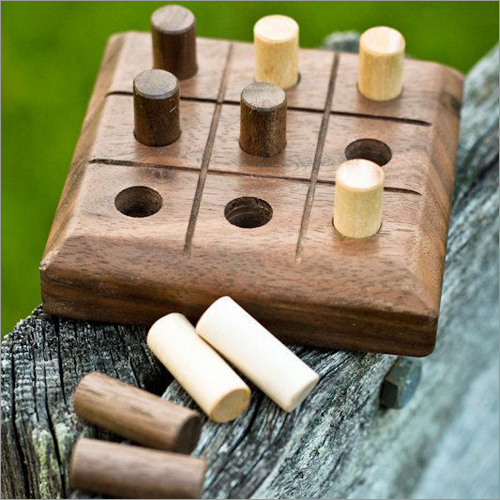 Wooden Tic Tac Playing Board