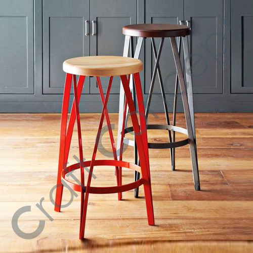 MULTI COLOR METAL BAR STOOL