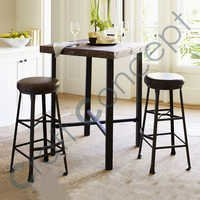 METAL & WOOD BAR STOOL