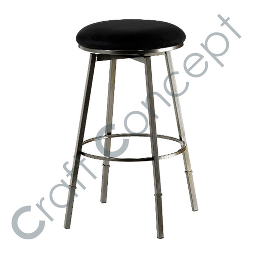 METAL & LEATHER BAR STOOL