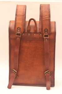 Leather Luggage Backpack Bag