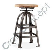 VINTAGE INDUSTRIAL BAR STOOL