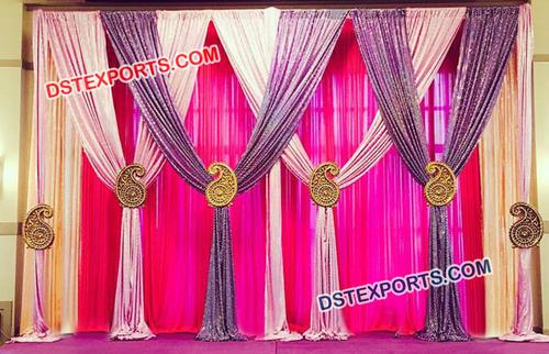 Latest Paisley Design Wedding Stage Backdrop