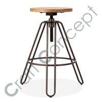 HAIRPIN REVOLVING BAR STOOL