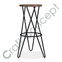 CROSS LEGS HAIRPIN BAR STOOL