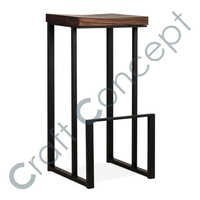 SLING SQUARE METAL BAR STOOL