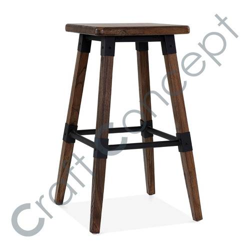 WOOD SQUARE BAR STOOL