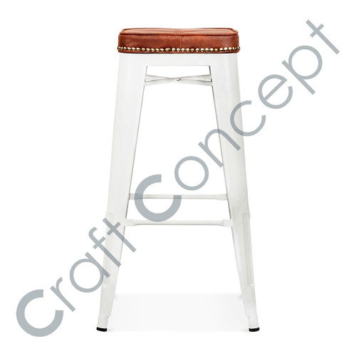 WOOD SEAT WITH METAL BAR STOOL