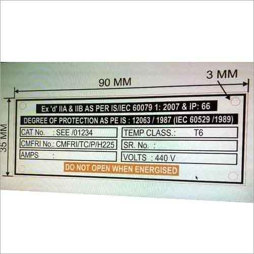 Panel Metal Label