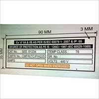 Panel Metal Label