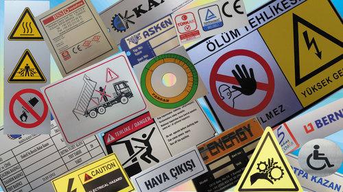 Caution Polycarbonate Labels