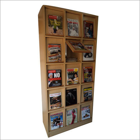 Magazine Wooden Display Cabinet
