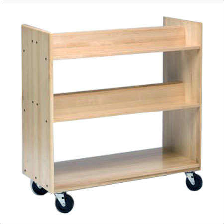 3 Tier Wooden Trolley