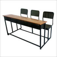 3 Seater Classroom Desk With Book Shelf